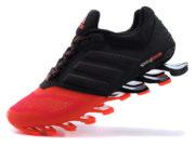 Кроссовки Adidas Springblade мужские черно-оранжевые - фото слева
