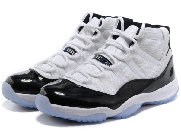 Nike Air Jordan 11 Retro белые с черным (40-45)