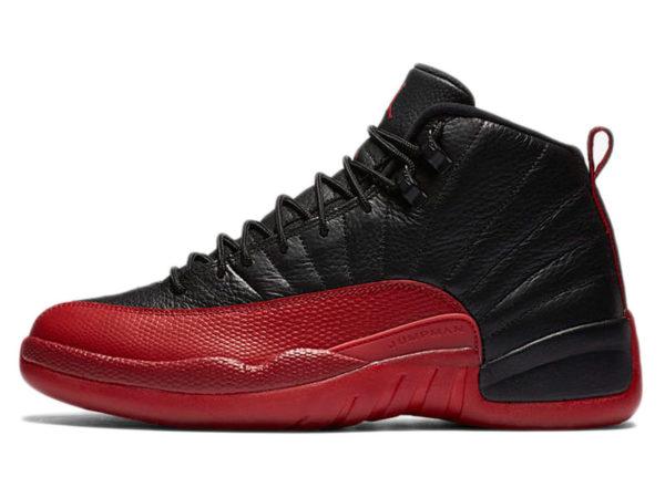 Кроссовки Nike Air Jordan 12 Retro черные с красным мужские
