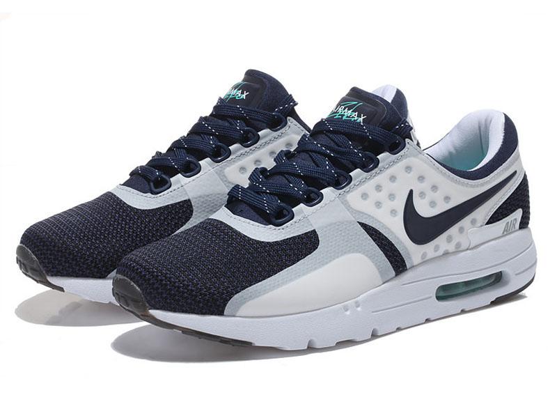 Кроссовки Nike Air Max 87 белые с темно-синим мужские