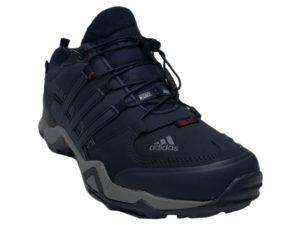 Зимние Adidas Terrex Traxion Low темно-синие - фото спереди