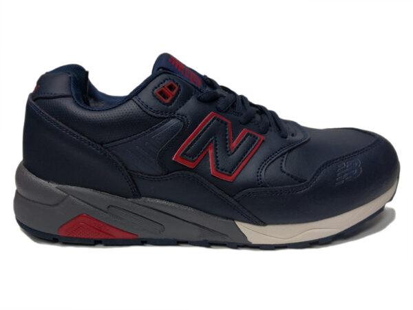 Зимние New Balance 580 темно-синие с красным