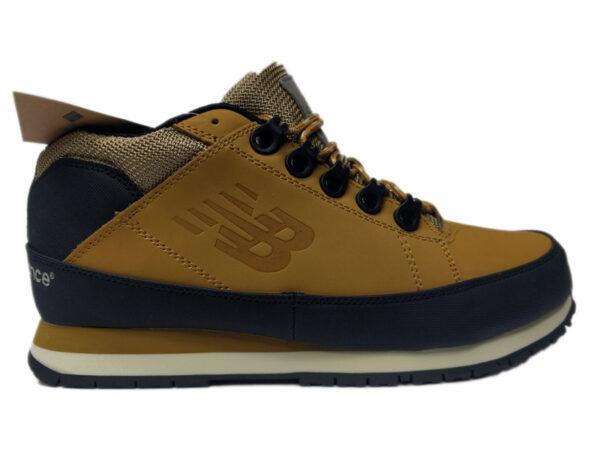 Зимние New Balance 754 Leather песочные с коричневым