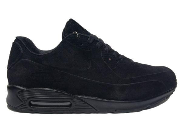 Nike Air Max 90 на меху черные (40-45)