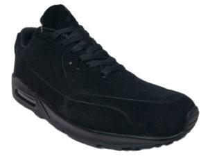 Зимние Nike Air Max 90 Suede черные - фото спереди