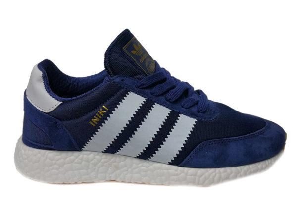 Adidas Iniki синие с белым (40-45)