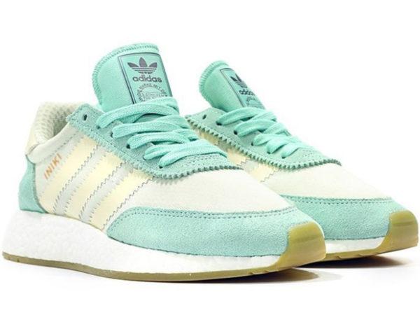 Adidas Iniki Runner Boost бирюзовые с белым