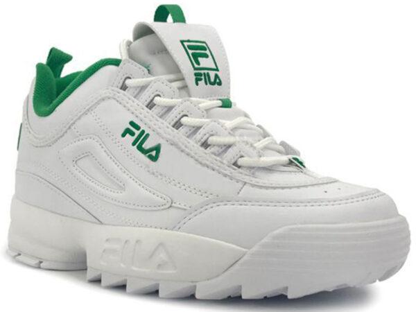 Зеленые кроссовки Fila