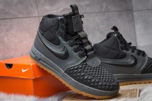 Зимние Nike Air Force 1 с МЕХОМ Lunar Duckboot Grey/Black серые (41-45)