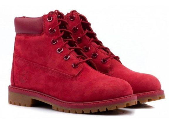 Красные ботинки Timberland