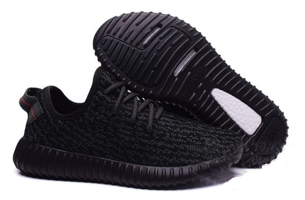 Adidas Yeezy Boost 350 (kanye west) Pirate Black черные (36-45)