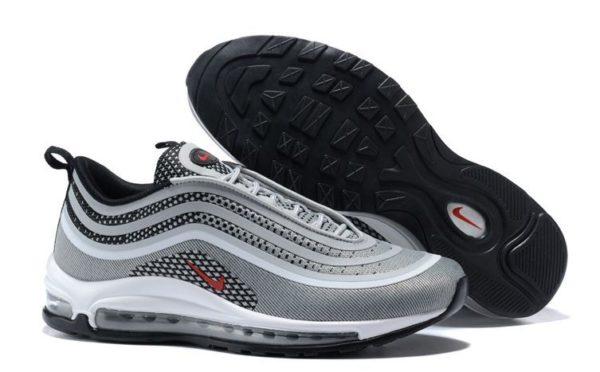 Серебряные мужские кроссовки