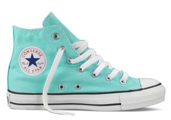 Converse All Star высокие бирюзовые (35-40). Конверс Ол Стар