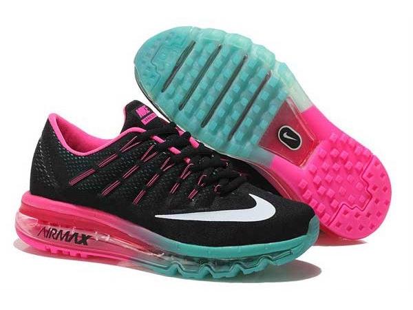 Nike Air Max 2016 черные с розовым (35-40)