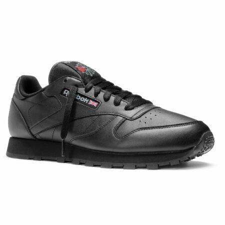 Reebok Classic leather кожаные black чёрные (35-45)