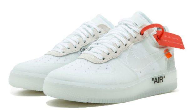 Nike Air Force 1 OFF-WHITE x white белые (40-45)