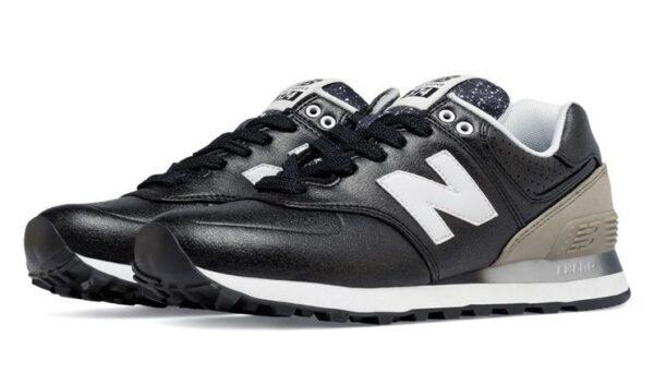 New Balance 574 кожа черные (35-39)