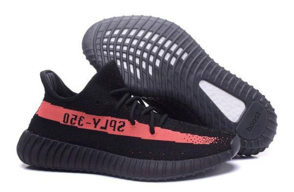 Adidas Yeezy Boost 350 V2 черно-красные (35-44)