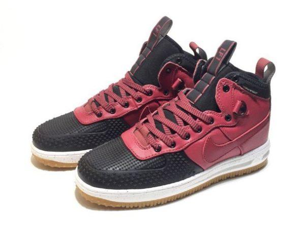 Nike Air Force 1 Lunar Duckboot красные с черным (40-44)