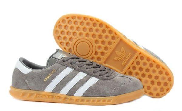 Adidas Hamburg серые с белым (39-44)