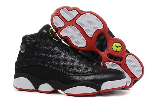Nike Air Jordan 13 Retro черные с белым и красным (40-45)