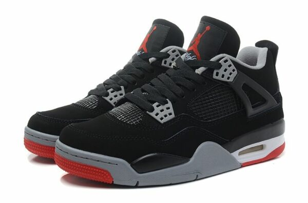 Air Jordan 4 Retro черные с красным (35-45)