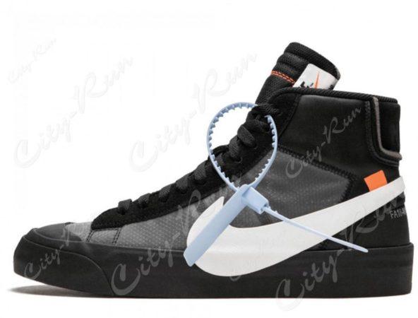 Off White x Nike Blazer Mid черные (Black) (40-44)