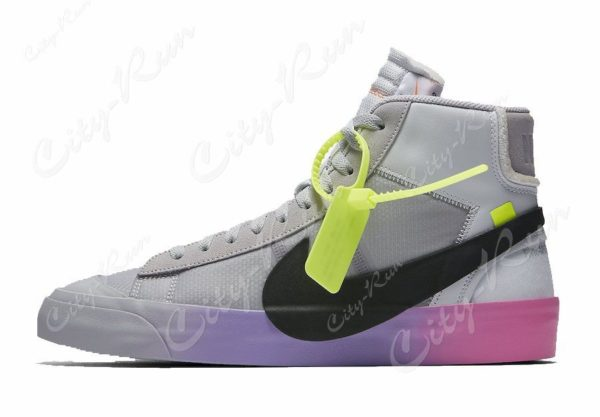 Off White x Serena Williams x Nike Blazer Mid фиолетовые (40-44)