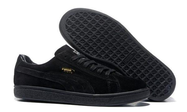 Puma Suede Classic черные (Black) (35-44)