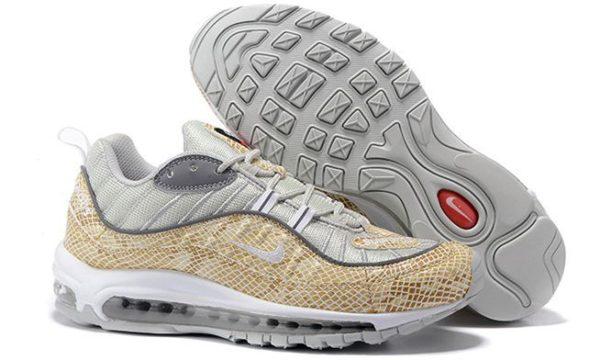 Supreme x Nike Air Max 98 белые с бежевым (35-44)