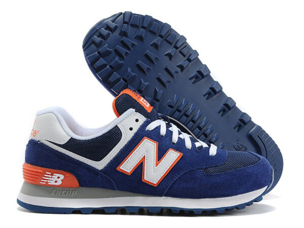 New Balance 574 синие с оранжевым (35-40)