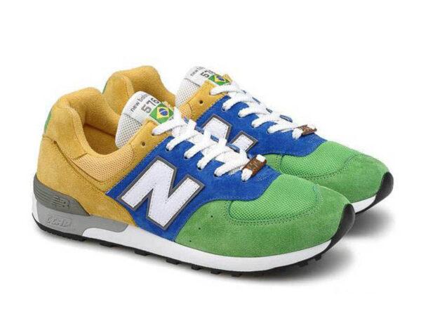 Кроссовки New Balance 576 желто-сине-зеленые 35-44