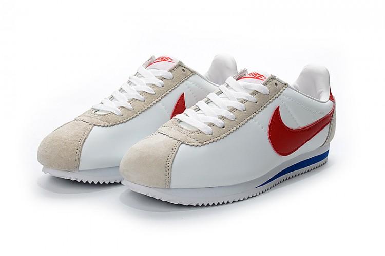 Nike Cortez белые-красные  (35-43)