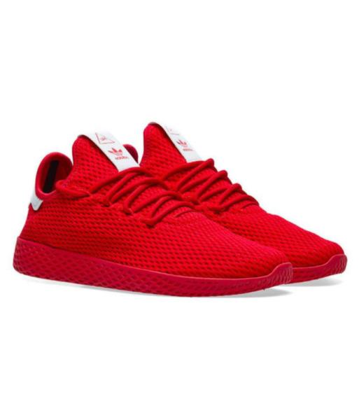 Adidas x Pharrell Williams Tennis Hu красные  (40-44)