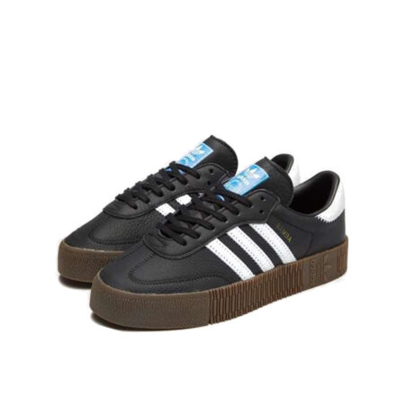 Adidas Samba черные с белым black white (36-40)