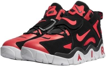 Nike Air Barrage Mid QS черные-красные-белые кожа-нубук мужские (40-44)