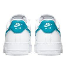 Nike Air Force 1 LV8 белые с бирюзовым (35-39)