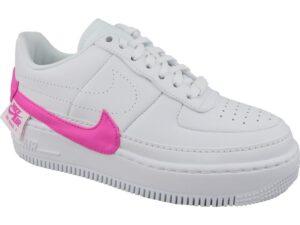 Nike Air Force 1 LV8 белые с розовым (35-39)
