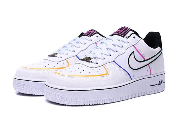 Nike Air Force 1 LV8 Day of the Dead белые кожаные мужские (40-44)