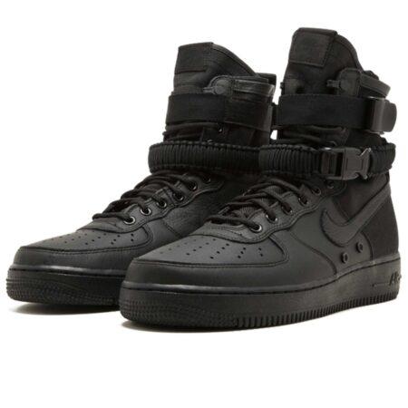 Nike Air Force 1 SF Mid черные кожа-нейлон мужские (40-44)