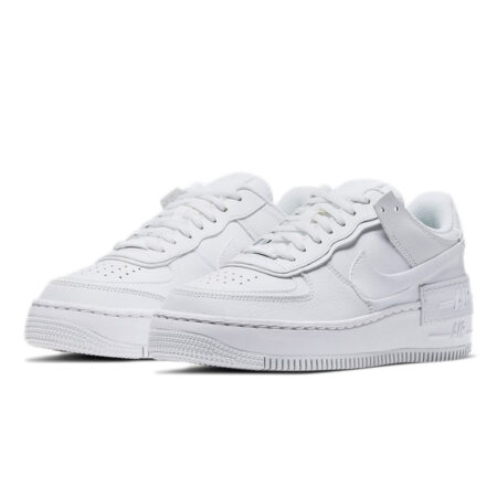 Nike Air Force 1 Shadow белые кожаные мужские-женские (35-44)