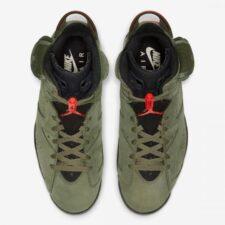 Nike Air Jordan 6 Travis Scott зеленые (40-45)
