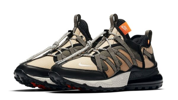 Nike Air Max 270 Bowfin бежевые-черные мужские (40-44)