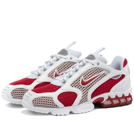 Nike Air Zoom Spiridon Caged 2 бело-красные мужские-женские (35-44)
