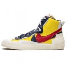 Nike Sacai Blazer Mid желтые белые синие красные (40-44)