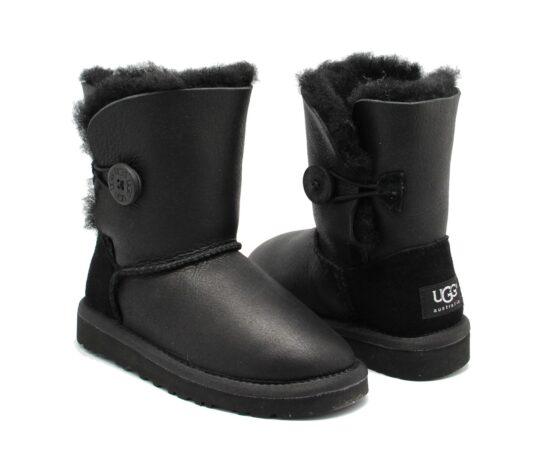 Зимние Ботинки UGG Bailey с мехом черные (35-40)