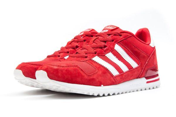 Adidas ZX 700 красные с белым замшевые мужские (40-44)