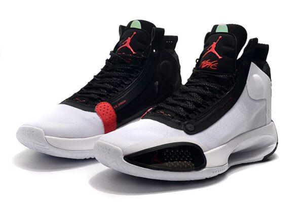 Nike Air Jordan 34 бело-черные мужские (40-45)