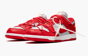 Nike Dunk Low off-White красно-серые (40-44)