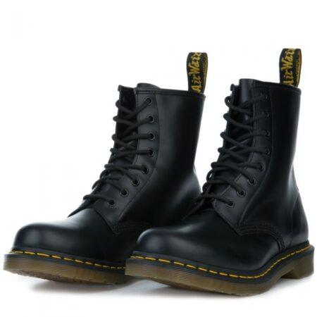Зимние ботинки Dr. Martens 1460 с мехом черные кожаные мужские (40-44)